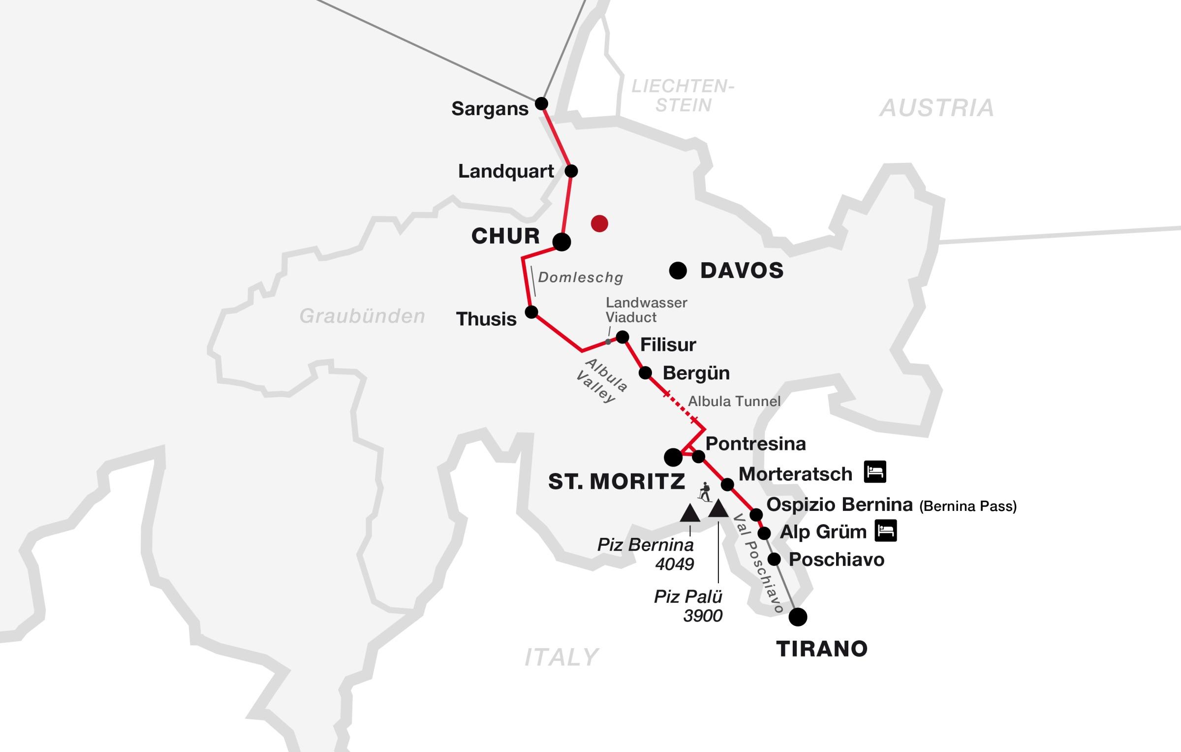 Graubuenden, Bahn/Zug