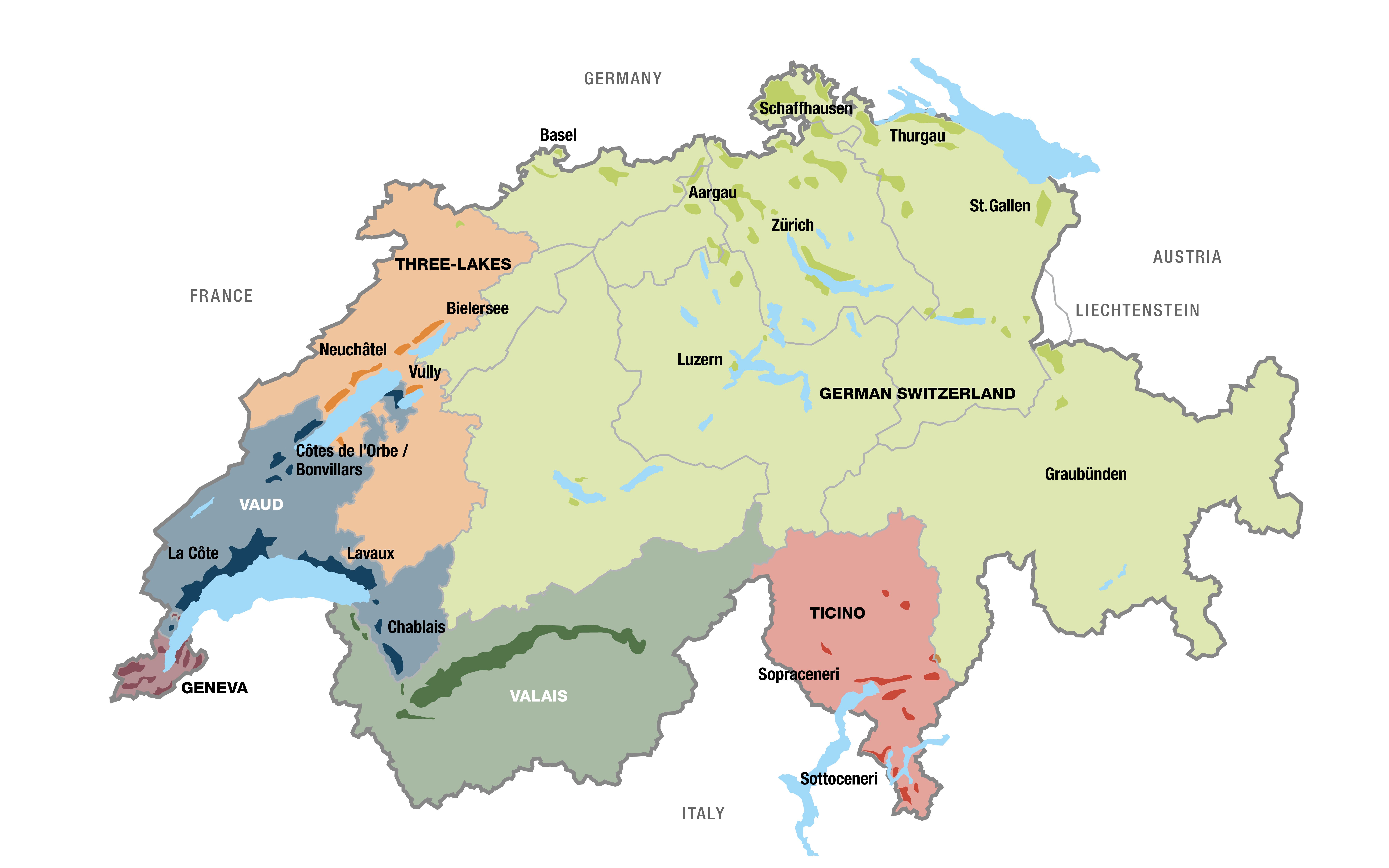 La Svizzera Cartina.Vino Svizzero Dati E Cifre Svizzera Turismo